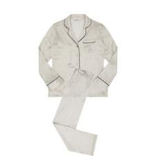 Marsala Print Silk Pyjamas