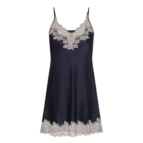 Lace-Trimmed Silk Chemise, ${color}