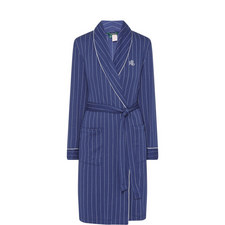 Striped Shawl Collar Robe