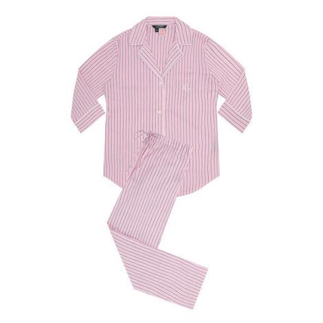 Notched Collar Pyjama Set, ${color}