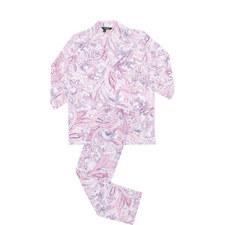 Paisley Print Three-Quarter Sleeve Pyjama Set
