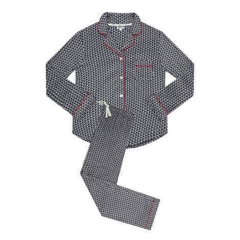 Geometric Print Pyjama Set, ${color}