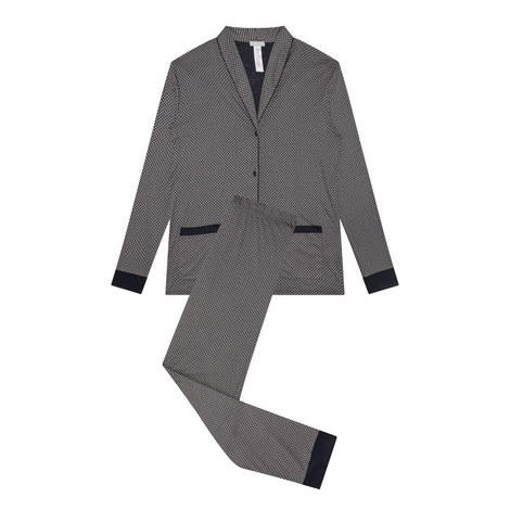 Patterned Modal Pyjama Set, ${color}