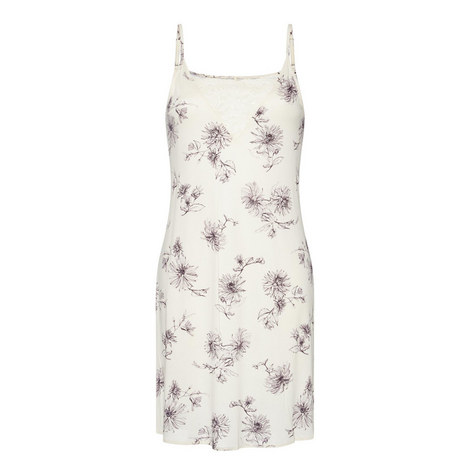 Camille Flower Print Chemise , ${color}