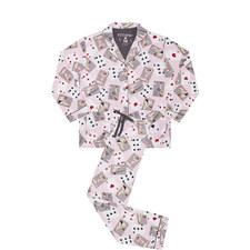 Flannel Cards Print Pyjamas