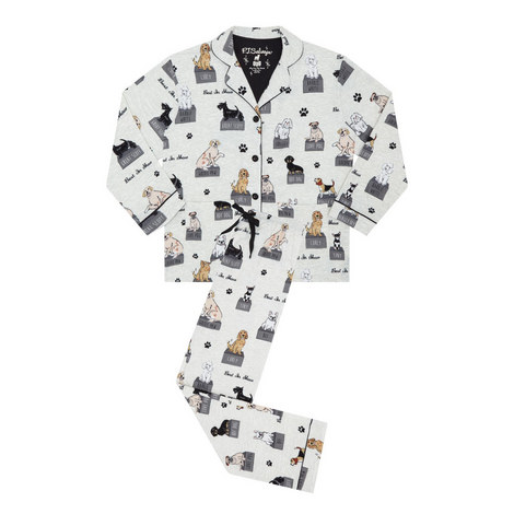 Dog Print Pyjama Set, ${color}