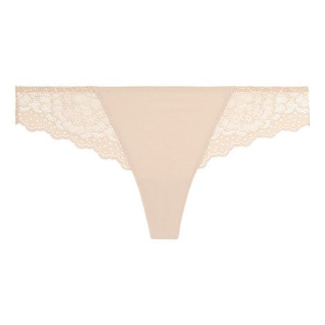 Caresse Lace Trim Tanga, ${color}