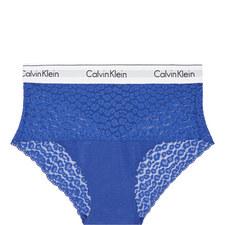 Modern Cotton Leopard Lace Briefs