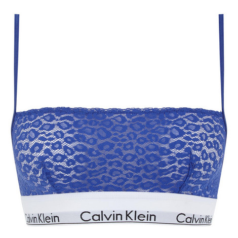 Modern Cotton Leopard Lace Bralette, ${color}