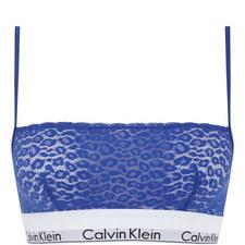 Modern Cotton Leopard Lace Bralette