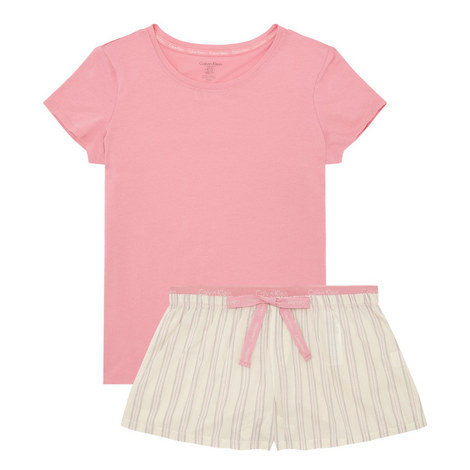 Pyjama Shorts and T-Shirt Set, ${color}