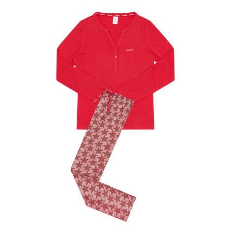 Dot Star Print Pyjamas, ${color}