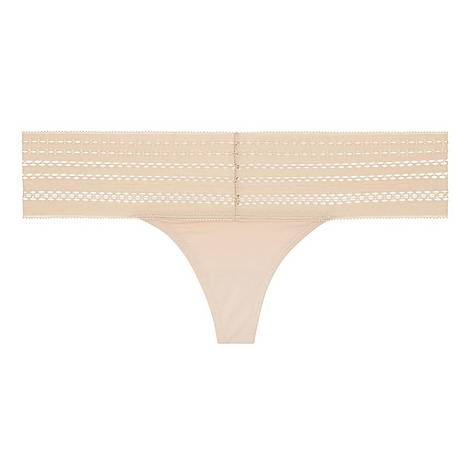 Cotton Lace Thong, ${color}