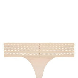 Cotton Lace Thong