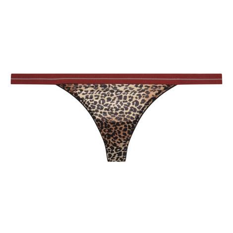 Room Service Leopard Print Thong, ${color}