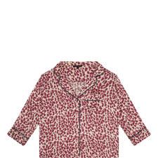 Jude Leopard Print Pyjama Top