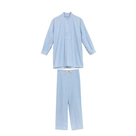 Striped Oxford Pyjama Set, ${color}