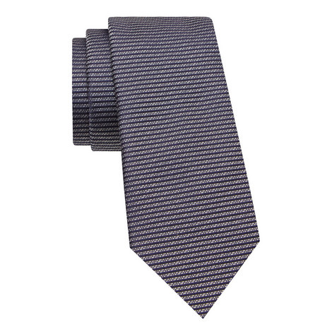 Geometric Print Silk Tie, ${color}