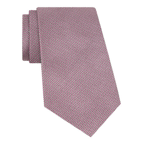 Micro Patterned Silk Tie, ${color}