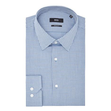Enzo Check Print Shirt, ${color}