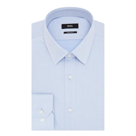 Enzo Stripe Twill Shirt, ${color}