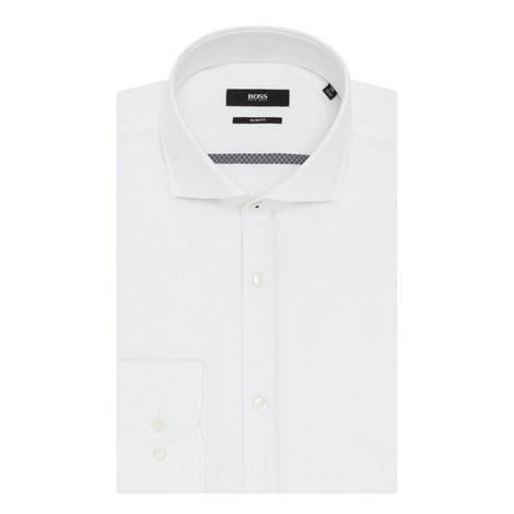 Jerring Pattern Trim Shirt, ${color}