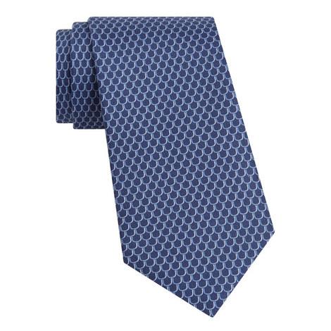 Scalloped Pattern Silk Tie, ${color}