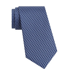 Scalloped Pattern Silk Tie