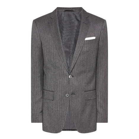 Hutsons Herringbone Suit Jacket, ${color}