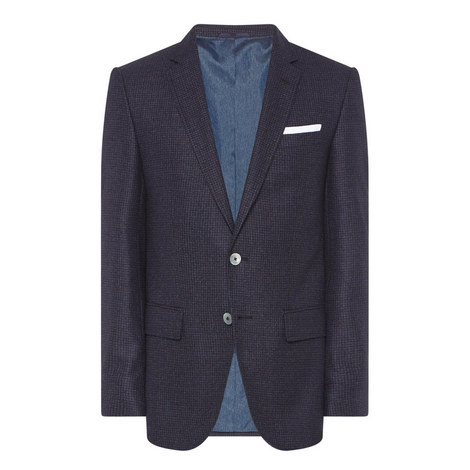 Hutsons Single-Breated Check Jacket, ${color}
