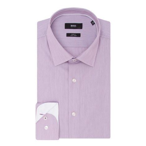 Jesse Fine Stripe Trim Shirt, ${color}
