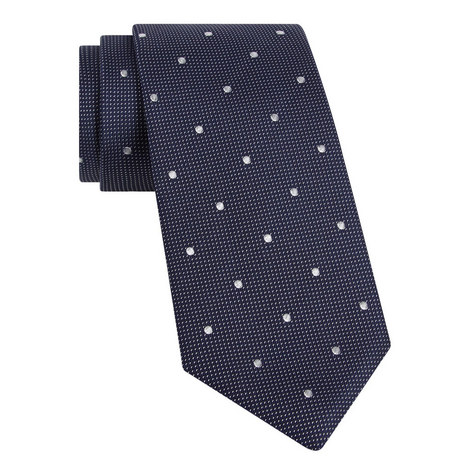 Spot Pattern Textured Tie, ${color}