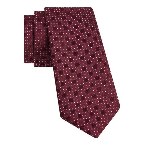 Double Polka-Dot Print Tie, ${color}