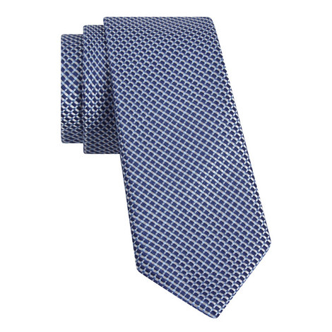Textured Pattern Silk Tie, ${color}