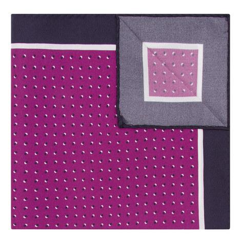 Micro Geometric Dot Print Pocket Square, ${color}
