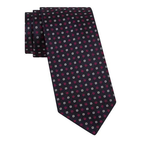 Micro-Print Silk Tie, ${color}