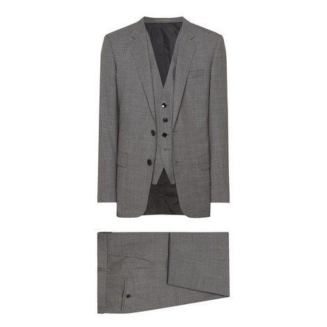Huge Genius 3-Piece Wool Suit, ${color}