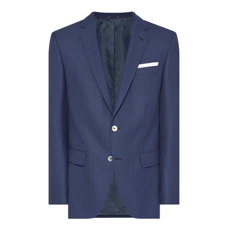 Hutsons Single-Breasted Check Jacket, ${color}