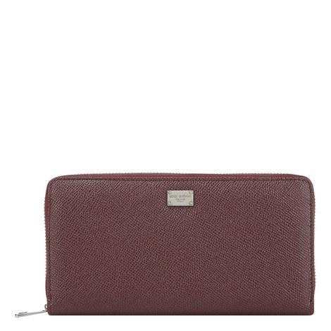 Dauphin Leather Zip-Around Wallet, ${color}