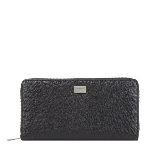 Dauphin Leather Zip-Around Wallet, ${color}