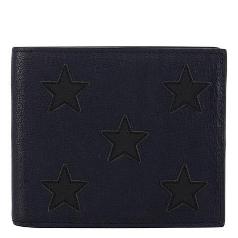 Star Appliqué Billfold Wallet, ${color}