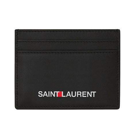 Leather Logo Card Holder, ${color}
