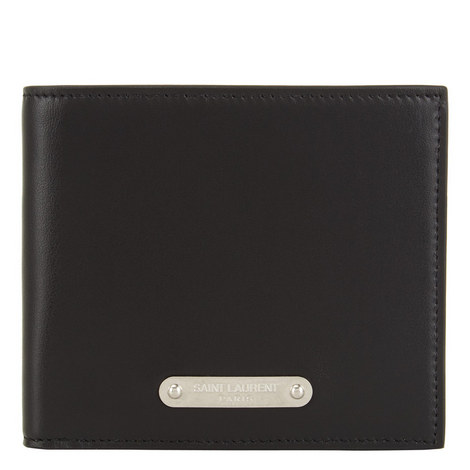 Leather Plate Billfold Wallet, ${color}