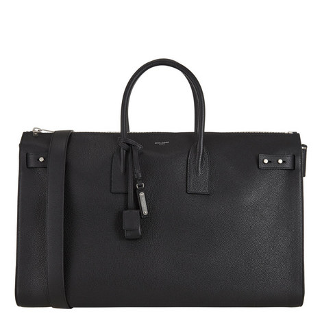 Grained Leather Holdall, ${color}