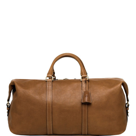 Medium Leather Clipper Holdall, ${color}