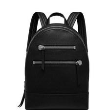 Black Calfskin Zip Backpack