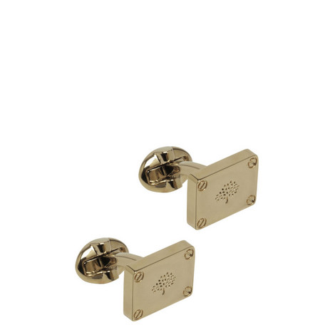 Rectangular Plaque Cufflinks, ${color}