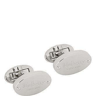 Oval Plaque T-Bar Cufflinks