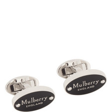 Oval Plaque T-Bar Cufflinks