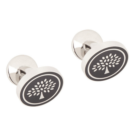 Embossed Tree T-Bar Cufflinks, ${color}